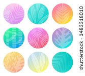gradient pastel circles with...