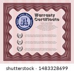 red warranty certificate... | Shutterstock .eps vector #1483328699