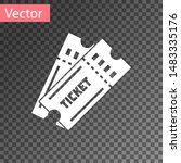 white ticket icon isolated on... | Shutterstock .eps vector #1483335176