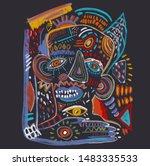 illustration graphic retro... | Shutterstock . vector #1483335533