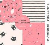 halloween night cartoon vector... | Shutterstock .eps vector #1483337846
