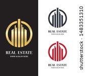 real estate logo icon... | Shutterstock .eps vector #1483351310