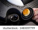 check the engine oil condition... | Shutterstock . vector #1483357799