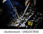 an engineer who repairs an... | Shutterstock . vector #1483357850