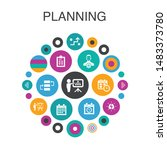 planning  infographic circle...