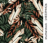 abstract seamless pattern with... | Shutterstock .eps vector #1483394426