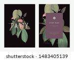 event invitation card template... | Shutterstock .eps vector #1483405139