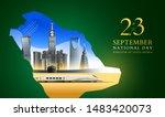 23 september the national day... | Shutterstock .eps vector #1483420073