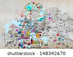 business plan image with... | Shutterstock . vector #148342670