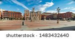 Plaza Mayor of Valladolid with the City Hall in Spain