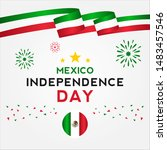 mexico independence day vector... | Shutterstock .eps vector #1483457546