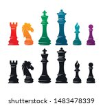 chess colorful figures pieces... | Shutterstock .eps vector #1483478339