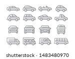 car icons set on white... | Shutterstock . vector #1483480970