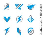 fast and furious symbol logo... | Shutterstock .eps vector #148348370