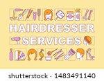 hairdresser services word...