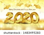2020  the inscription happy new ... | Shutterstock .eps vector #1483495283