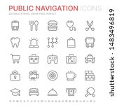 collection of public navigation ... | Shutterstock .eps vector #1483496819