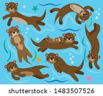 cute vector collection of...   Shutterstock .eps vector #1483507526