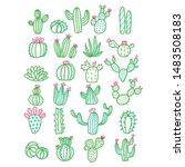 Cute Hand Drawn Vector Cactus...