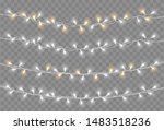 christmas lights. light bulb... | Shutterstock .eps vector #1483518236