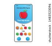 kids game smartphone interface... | Shutterstock .eps vector #1483523096