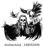 black   white gothic line... | Shutterstock .eps vector #148352450