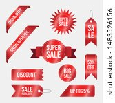 collection of red discount...   Shutterstock .eps vector #1483526156