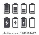 different battery capacity...   Shutterstock .eps vector #1483531649