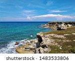 Turquoise Caribbean Sea  White...