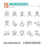 businesspeople icons. set of... | Shutterstock .eps vector #1483538630