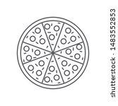 pizza social media icon...