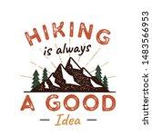 outdoors adventure badge with... | Shutterstock . vector #1483566953