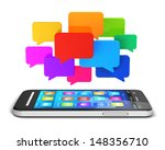 creative mobile communication... | Shutterstock . vector #148356710