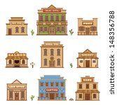 wild west buildings | Shutterstock .eps vector #148356788