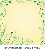 decorative floral background.... | Shutterstock .eps vector #148357463