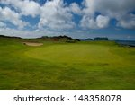 golf course in westman islands  ... | Shutterstock . vector #148358078