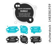 quote text dialog bubbles.... | Shutterstock .eps vector #1483581959