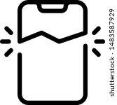 broken or damaged cell phone...   Shutterstock .eps vector #1483587929