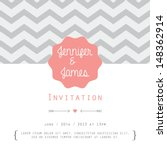 vintage card  for invitation or ... | Shutterstock . vector #148362914