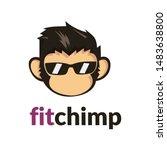 Chimp Monkey Head   Cool Logo...