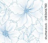 floral seamless pattern. flower ... | Shutterstock .eps vector #1483646780