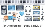 """let's Music"" Illustration Pack ..."