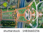 Aerial View Of The Colorful ...