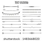 text dividers in vintage style. ... | Shutterstock .eps vector #1483668020