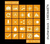 photo editor icon set | Shutterstock .eps vector #148366874