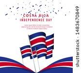 happy costa rica independence...   Shutterstock .eps vector #1483670849