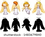 silhouette  color and outline...   Shutterstock .eps vector #1483679840