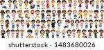 children with different...   Shutterstock .eps vector #1483680026