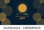 happy mid autumn festival... | Shutterstock .eps vector #1483684610