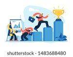 team leader  employee getting...   Shutterstock .eps vector #1483688480